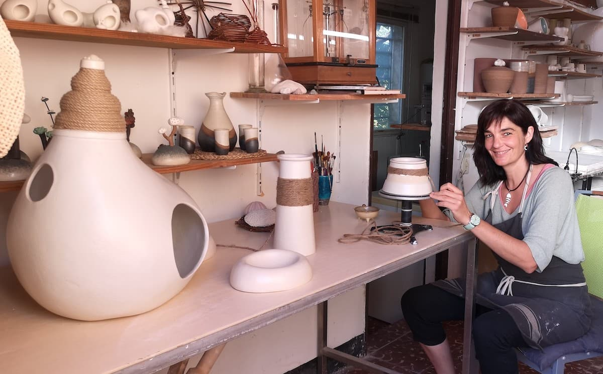 Sara Monge en su taller